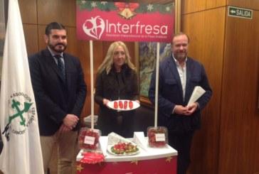 Presentación en Huelva de la iniciativa solidaria 'Campanadas con fresas'