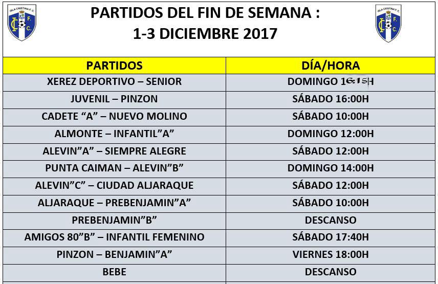 Agenda futbolera del Isla Cristina FC para el fin de semana