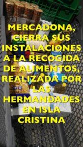 Mercadona cierra las puertas a la solidaridad de las hermandades de Isla Cristina