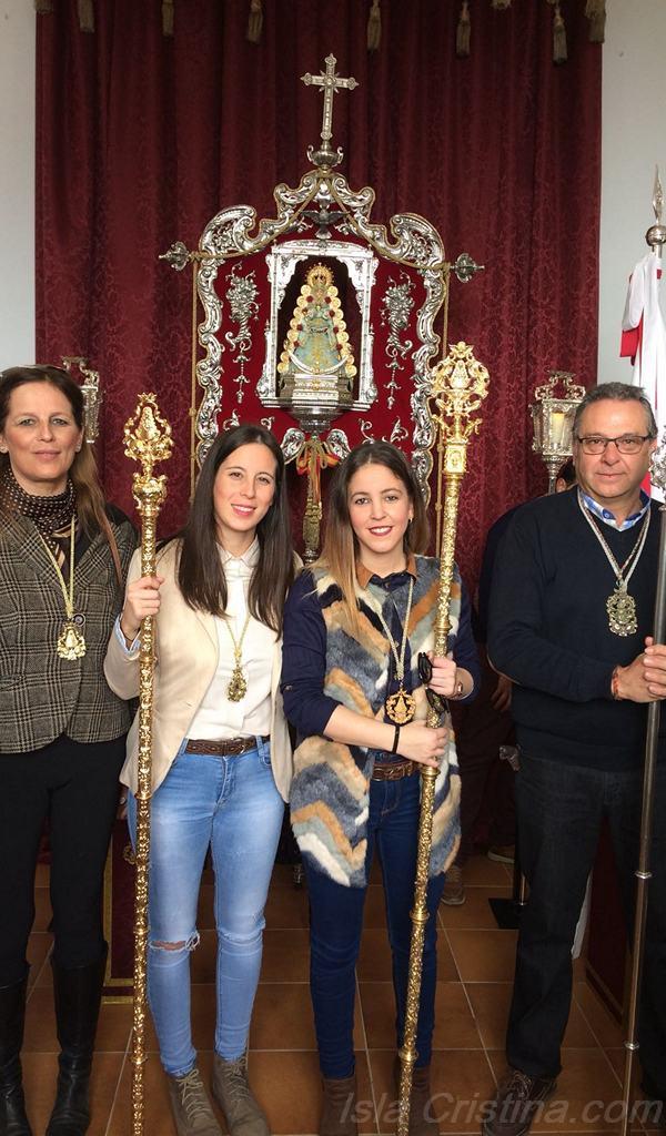 Peregrinación de la Hermandad del Rocío de Isla Cristina con la de Villalba