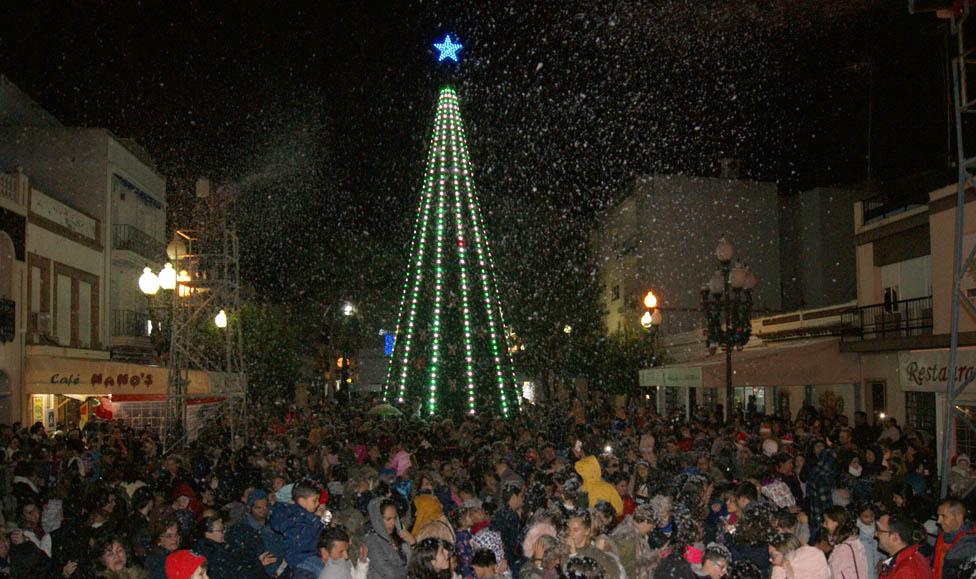 La nieve vuelve a Isla Cristina por Navidad