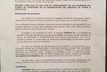 Nota de Prensa Partido Popular de Isla Cristina