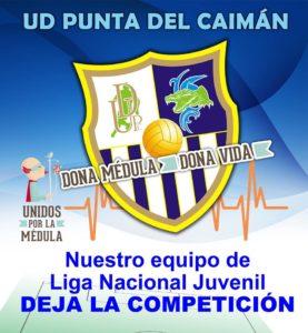 La UD Punta del Caimán decide retirar al juvenil de la Liga Nacional