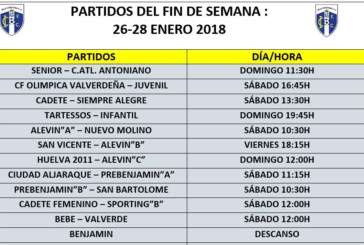 Horarios y encuentros fin de semana equipos Isla Cristina FC
