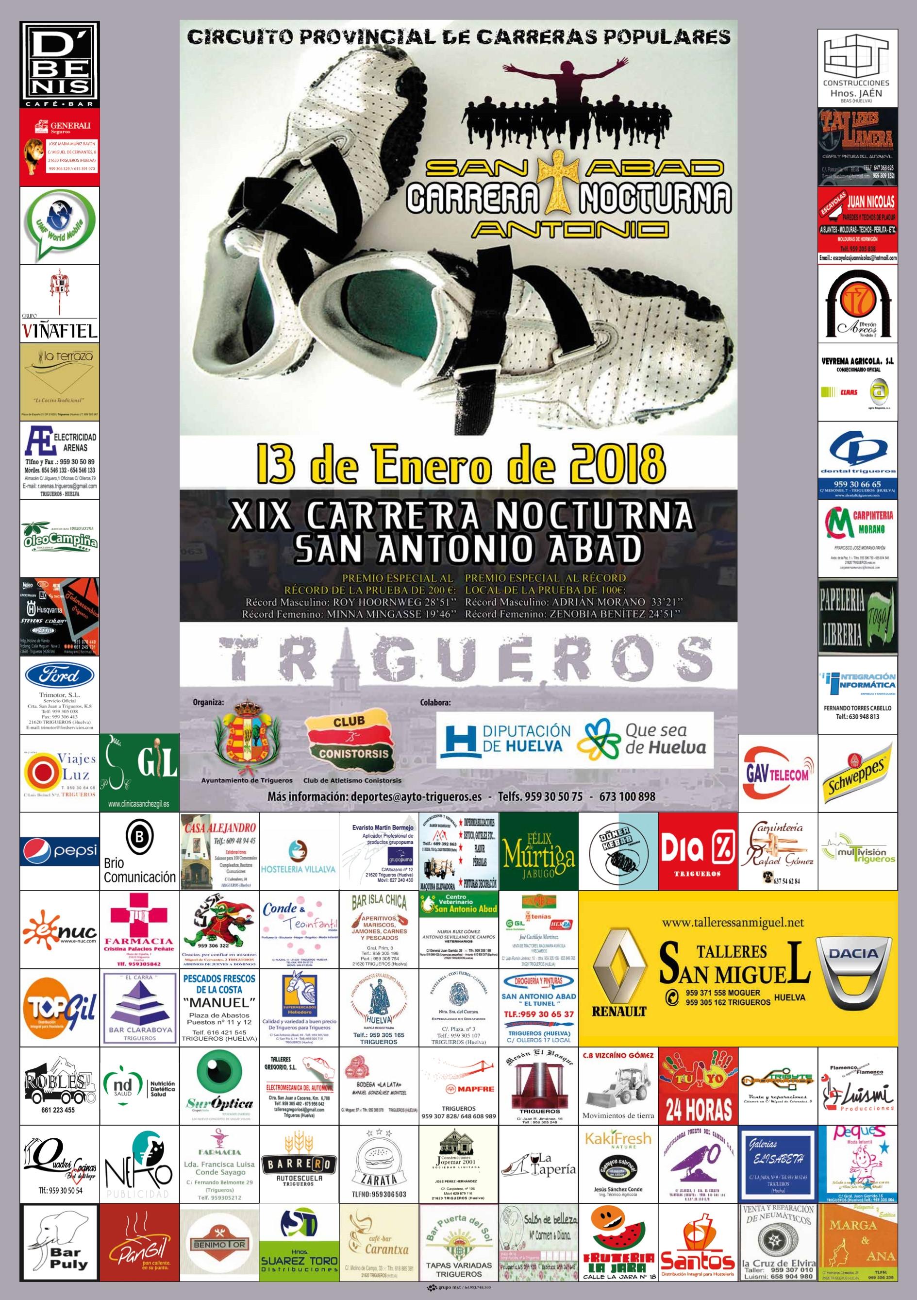 XIX Carrera Nocturna `San Antonio Abad` Trigueros