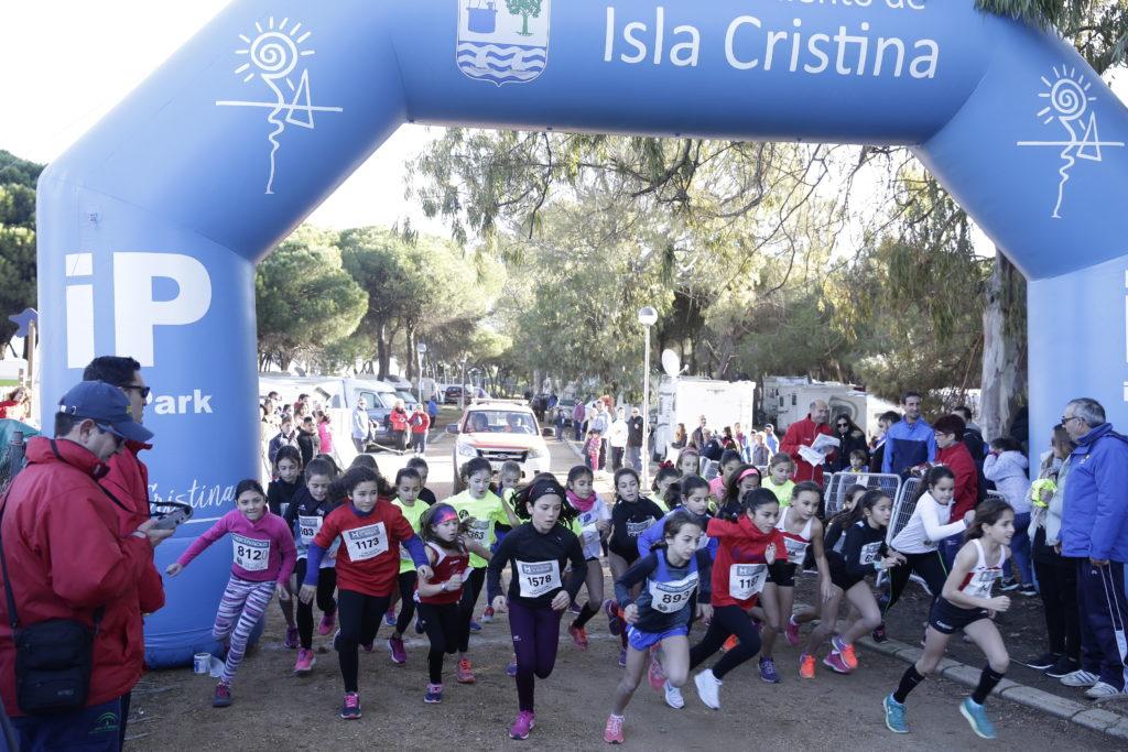 """Celebrada con gran éxito de participación la """"XX Edición del Cross Pinares de Isla Cristina"""""""
