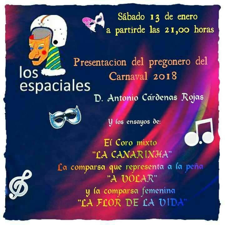 Los Espaciales presentan el pregonero del Carnaval 2018 de Isla Cristina