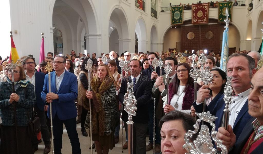 Isla Cristina estuvo en el Santuario y adoró a la Madre de todos los rocieros