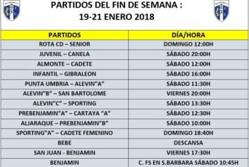 Horarios y partidos para el fin de semana de los equipos del Isla Cristina FC