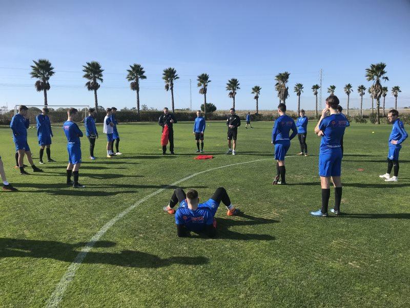 La Ciudad del Fútbol de Islantilla, a pleno rendimiento