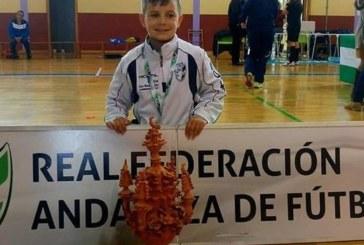 Tomas Méndez mejor jugador del Campeonato de Andalucía de selecciones provinciales de Fútbol Sala Benjamín