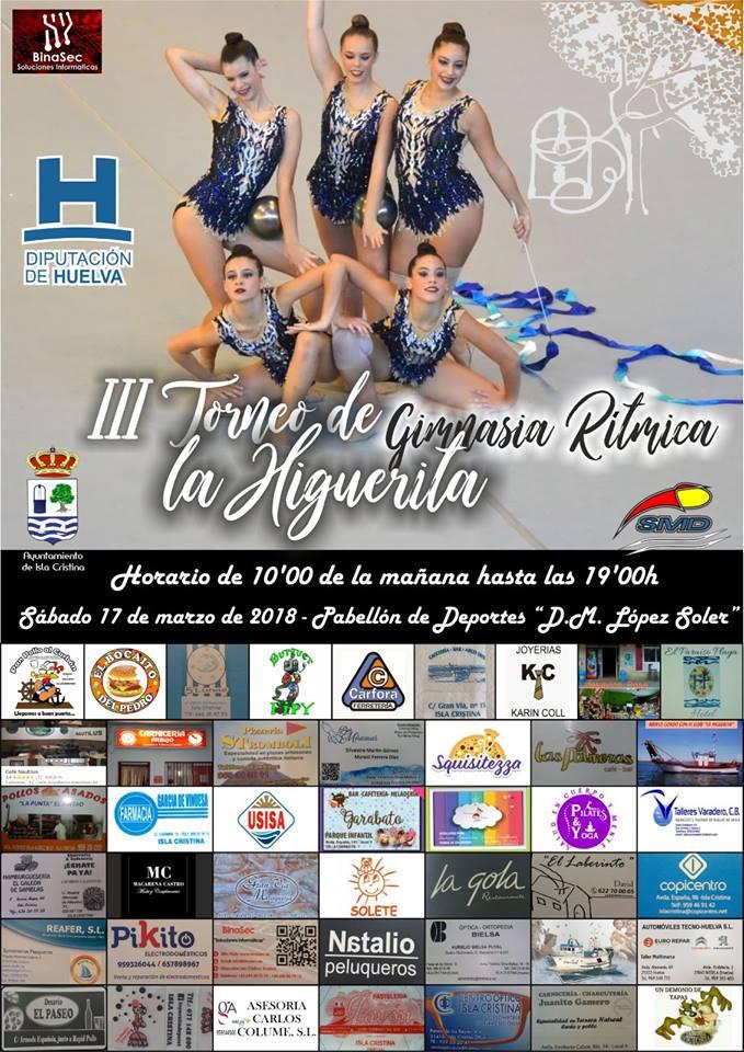 """Isla Cristina acoge el III Torneo Club «La Higuerita"""" de gimnasia rítmica"""