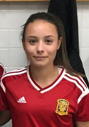 La isleña Irati, jugadora del Cajasol Sporting, convocada por la selección española sub 16