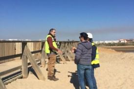 Visita a las obras isleñas de Rehabilitación del Puente sobre La Gola y solicitud de actuación en Las Calderas