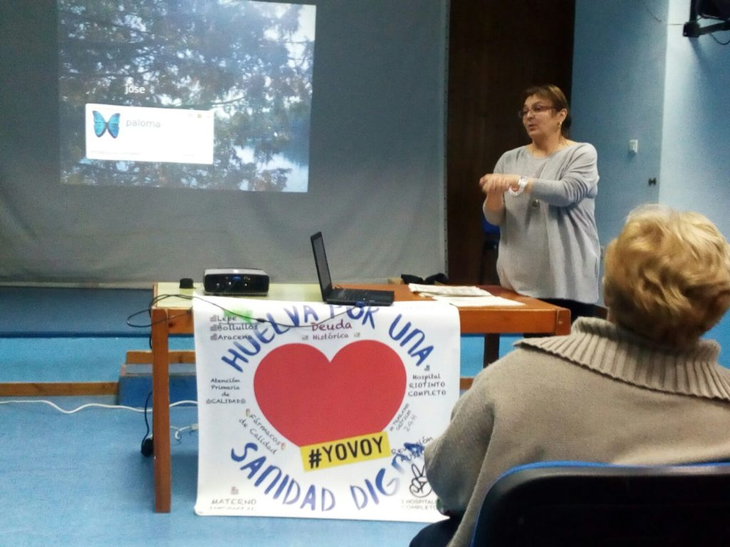 Campaña de formación de la asociación Huelvaporunasanidaddigna, «educadores sanitarios»