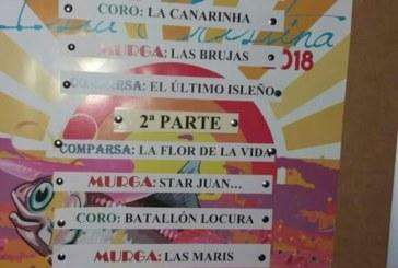 Orden de actuaciones final del LI Concurso de Coros, Comparsas, Murgas, y Cuartetos, de Isla Cristina