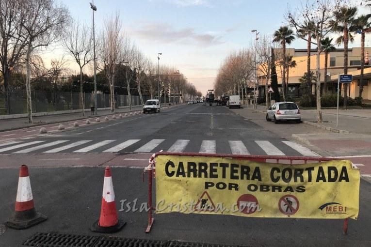 Satisfacción en el PSOE isleño por el asfaltado de calles