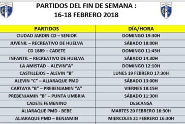 Agenda fin de semana partidos del Isla Cristina FC