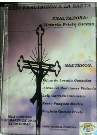 Exaltación a la Saeta en la Peña Flamenca de Isla Cristina