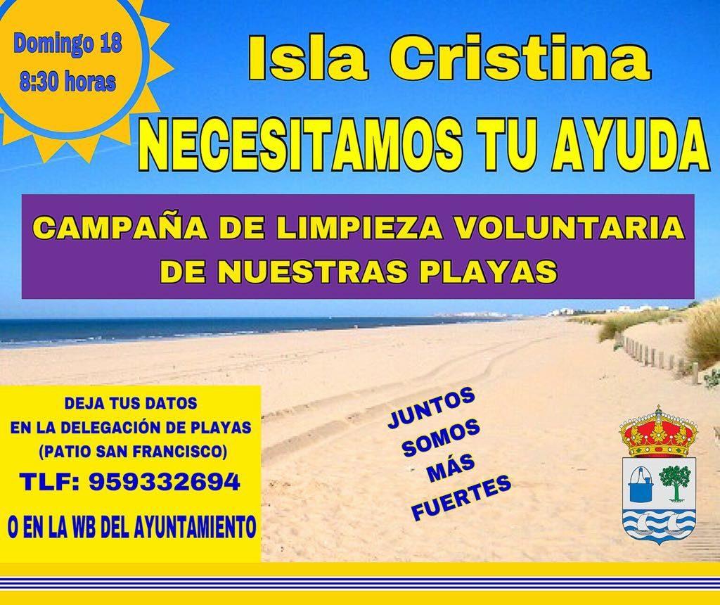 Campaña de limpieza voluntaria de Nuestras Playas
