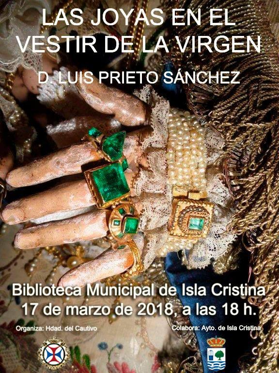 Conferencia «Las joyas en el vestir de la Virgen» (Isla Cristina)
