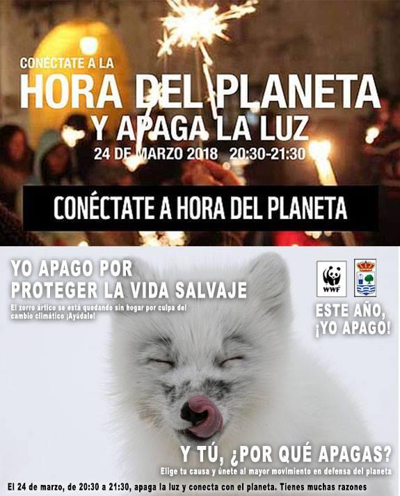 Conéctate en Isla Cristina a «La Hora del Planeta»