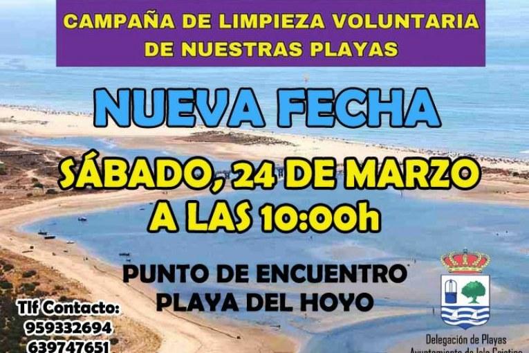 Este sábado nueva fecha para la limpieza de las Playas de Isla Cristina