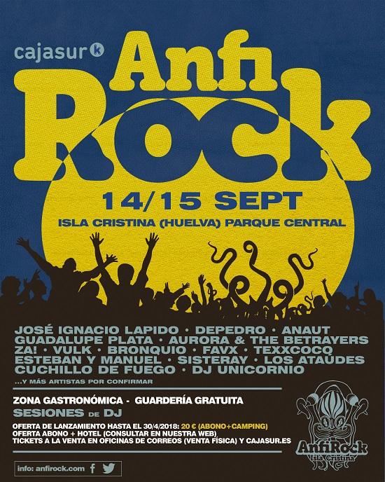 El Anfi Rock de Isla Cristina empieza a desvelar su cartel