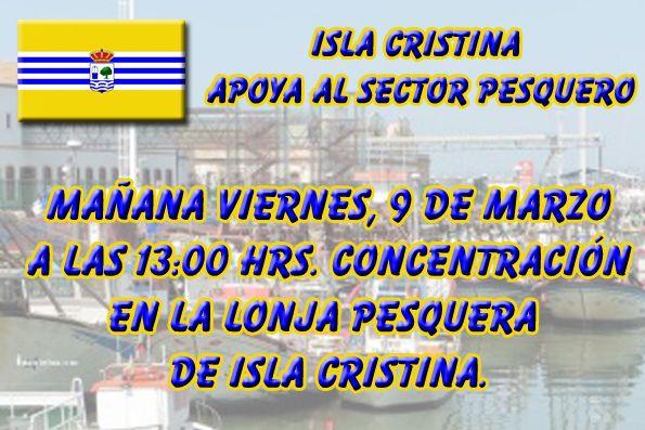 Ayuntamiento, Empresas y el Sector Pesquero de Isla Cristina se concentrarán este viernes
