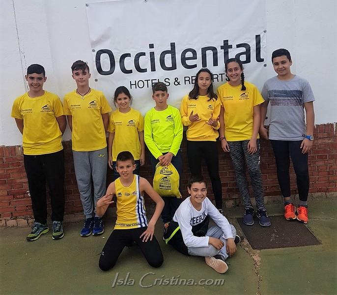 Desplazamiento a Carmona de la marea amarilla infantil del CA Isla Cristina