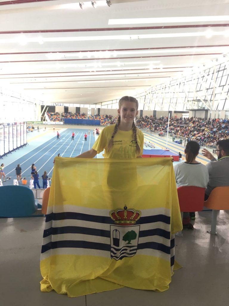 La atleta isleña Julia García entre las mejores del Campeonato de España Sub 18 en PC.