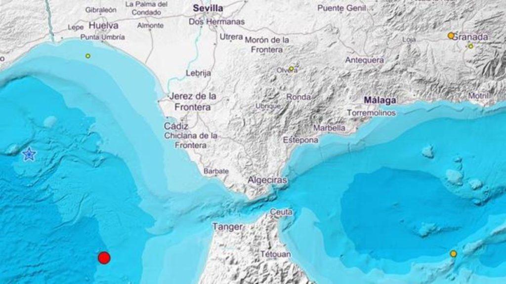 Terremotos en el mar entre Cádiz y Huelva