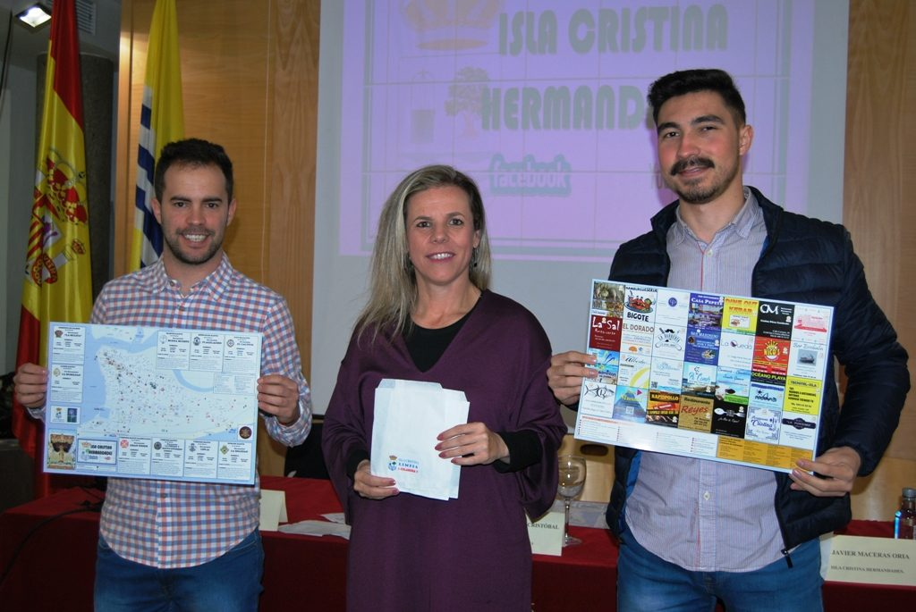 Se presenta un mapa que recoge el itinerario de las hermandades de Isla Cristina