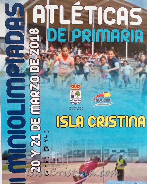 "Isla Cristina celebra las ""XIII Miniolimpiadas Escolares Atléticas"""