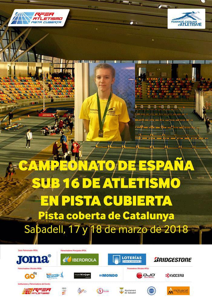 La atleta isleña Julia García en el Campeonato de España Sub 18 en PC