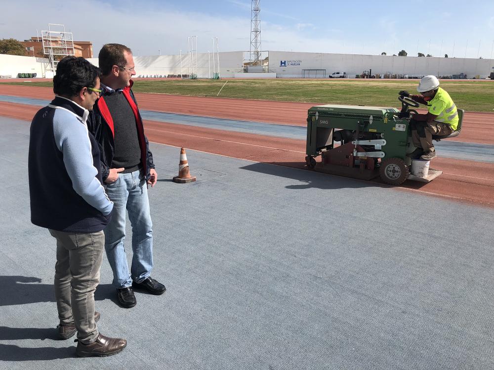 Diputación invierte 350.000 euros en las pistas del Estadio Iberoamericano de Atletismo Emilio Martín