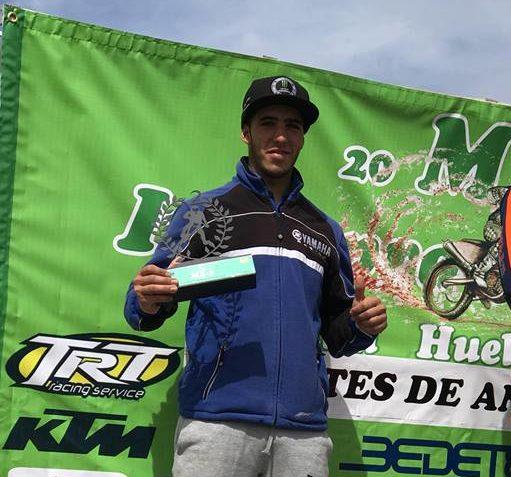 Podio para el piloto isleño Manuel Beltrán en el campeonato andaluz de motocross