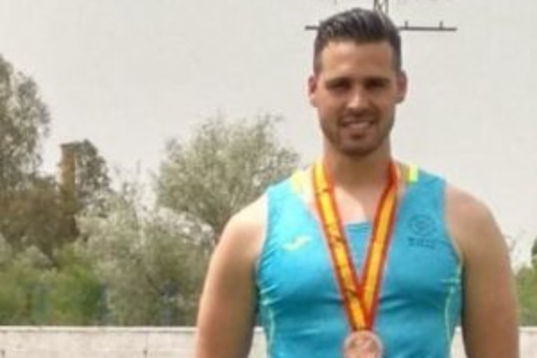 El atleta isleño Antonio Palma en el Andaluz 1ª División