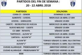 Agenda Futbolera del Isla Cristina FC