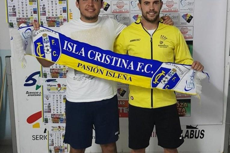 Juan Miguel Porras y José Antonio Figuereo, entrenadores del Juvenil del Isla Cristina