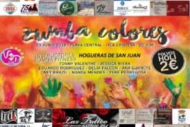 """Isla Cristina celebra el día de San Juan al ritmo de """"Zumba Colores"""""""