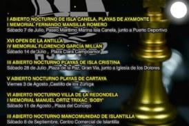 Calendario de los Torneos del III Circuito Nocturno de Ajedrez en la Playa