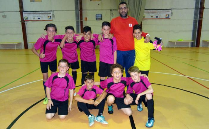 El Pozo del Camino alevín de Fútbol Sala Campeones Provinciales