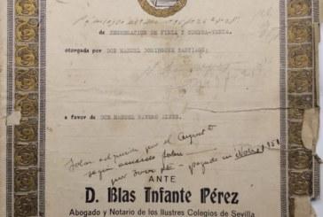 """Documento del Mes de Junio 2018 en Isla Cristina """"Blas Infante, Padre de la Patria Andaluza"""""""