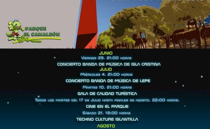 Programación cultural del Parque del Camaleón de Islantilla