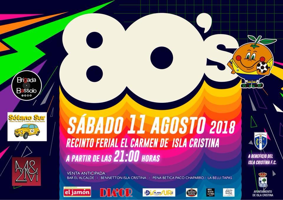 El Isla Cristina FC organiza la fiesta de verano dedicada a la música de los 80