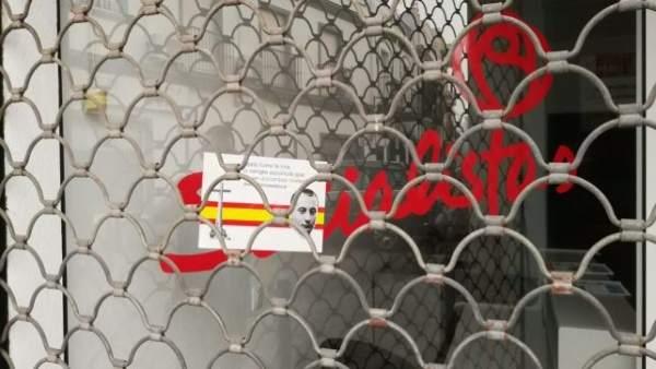 El PSOE de Isla Cristina condena «actos vandálicos y mensajes fascistas»