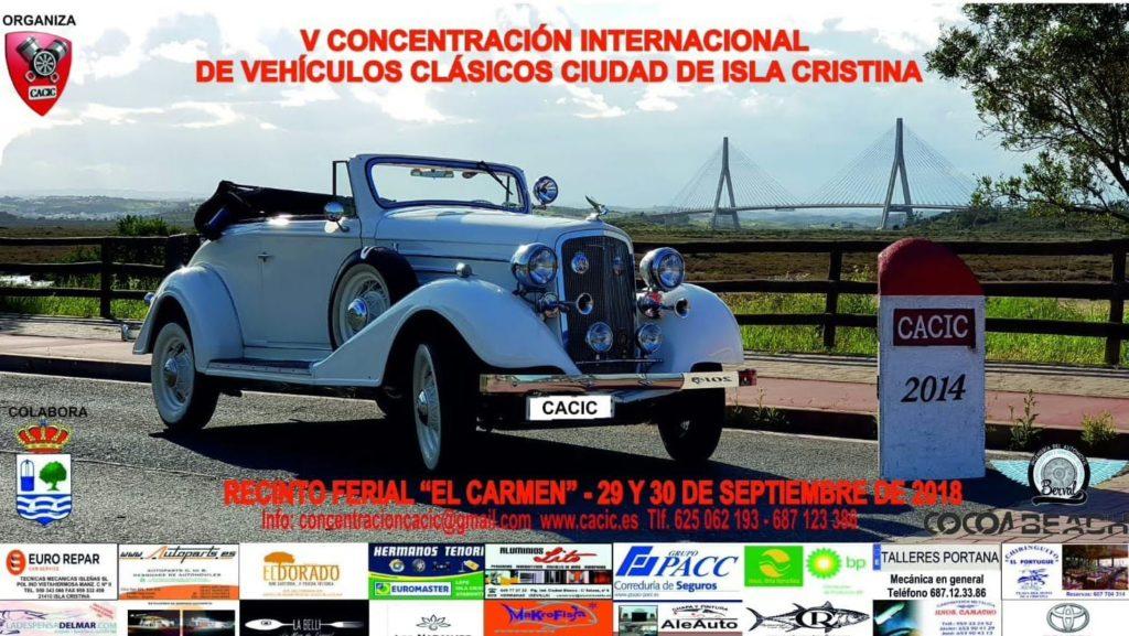 Abierto el plazo de inscripción para la «V Concentración Internacional de Vehículos Clásicos «Ciudad de Isla Cristina»
