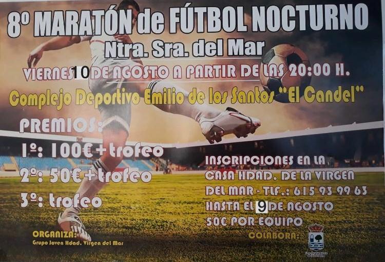 """Hoy jueves se cierra el plazo de inscripciones del 8º Maratón de Fútbol Nocturno """"Ntra. Sra. del Mar»"""