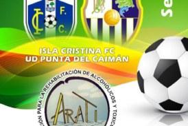Fiesta del fútbol solidario entre el Isla Cristina y Punta del Caimán